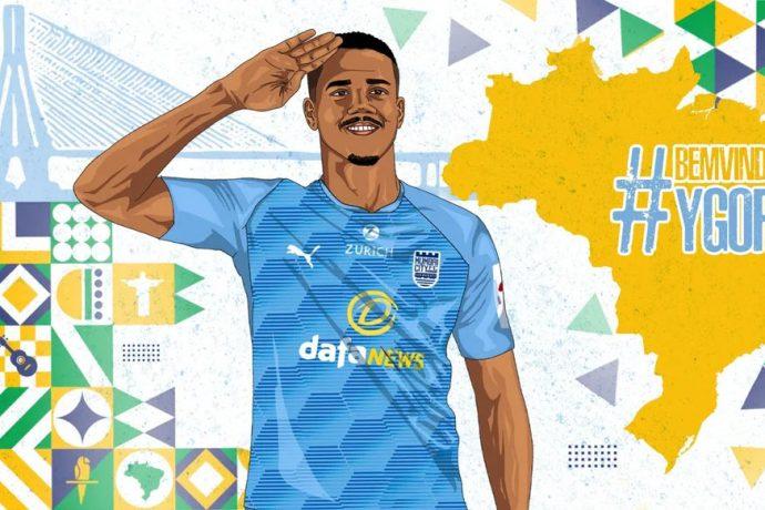 Mumbai City FC welcome their Brazilian signing Ygor Catatau. (Image courtesy: Mumbai City FC)