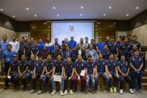 Participants of the AIFF-ANFA League Development Workshop at the ANFA Complex in Lalitpur, Nepal, on Friday, September 3, 2021. (Photo courtesy: AIFF Media)