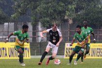 Calcutta Football League – Premier Division A match action between Mohammedan Sporting Club and Railway FC at the Kalyani Municipal Stadium. (Photo courtesy: Mohammedan Sporting Club)