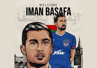 Bengaluru FC welcome new Iranian midfielder Iman Basafa to the club. (Image courtesy: Bengaluru FC)