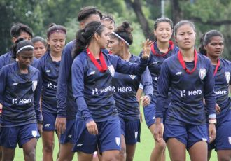 The Indian women's national team squad in training. (Photo courtesy: AIFF Media)
