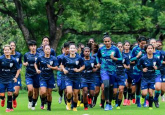 The Indian women's national team in training. (Photo courtesy: AIFF Media)