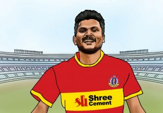 SC East Bengal welcome their new signing Romeo Fernandes. (Image courtesy: SC East Bengal)