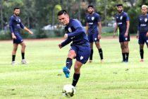 Indian national team captain Sunil Chhetri in training. (Photo courtesy: AIFF Media)