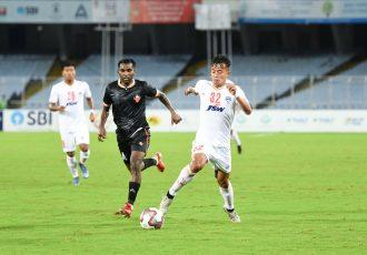 Bengaluru FC defender Naorem Roshan Singh in action against FC Goa, at the Vivekananda Yuba Bharati Krirangan, in the 2021 Durand Cup semifinal on September 29, 2021. (Photo courtesy: Bengaluru FC)