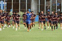 RoundGlass Punjab FC players during their pre-season training in Kolkata. (Photo courtesy: RoundGlass Punjab FC)
