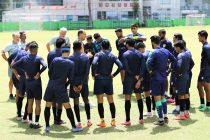 The Indian national team in training. (Photo courtesy: AIFF Media)
