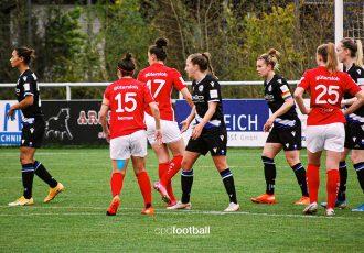 2nd Division Women's Bundesliga match action between DSC Arminia Bielefeld and FSV Gütersloh 2009. (© CPD Football)