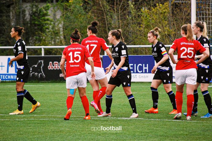 2nd Division Women's Bundesliga match action between DSC Arminia Bielefeld and FSV Gütersloh 2009. (© CPD Football)